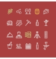 Wine Making Drink Icon Set vector image