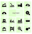 14 factory icons vector image vector image