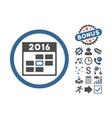 2016 Calendar Day Flat Icon With Bonus vector image vector image