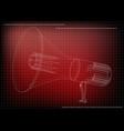 3d model of a speaker vector image vector image