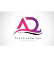 Ad letter logo design creative icon modern vector image