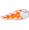 Angry Flaming Golf Ball vector image vector image