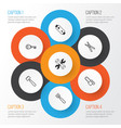 apparatus icons set collection of gasoline cutter vector image