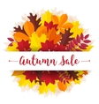 Autumn sale vintage typography poster with vector image vector image