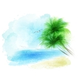 background of a watercolor seascape vector image