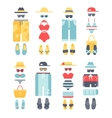 Beachwear different flat summer icons vector image vector image