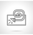 Blowout toy flat line icon vector image vector image