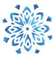 Blue watercolor snowflake vector image vector image