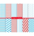 Bright and simple red and shades of blue pattern vector image vector image