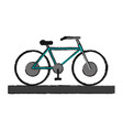 bycicle draw vector image