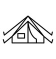 camp tent icon outline style vector image vector image