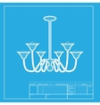 Chandelier simple sign White section of icon on vector image vector image