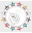 Chinese Zodiac Snake vector image vector image