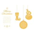 Christmas pendants a snowman in hat and scarf vector image vector image