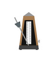classic metronome with pendulum in motion vector image vector image