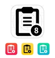 Clipboard with numbers icon vector image vector image