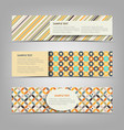 collection retro banners with different color vector image