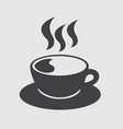 cup of coffee hot icon vector image vector image