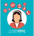 Customer service and technical support vector image vector image