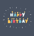 different color birthday candles vector image vector image