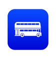 double decker bus icon digital blue vector image vector image