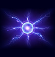 electric plasma lightning thunderball discharge vector image vector image