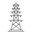 electric pole icon outline style vector image