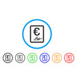 euro signed contract rounded icon vector image