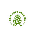 fast hops brewery logo vector image vector image