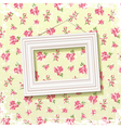 Frame on floral background