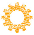 gear collage of lock icons vector image vector image