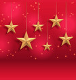 gold stars christmas background vector image vector image
