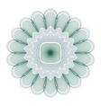 green guilloche rosette vector image vector image