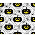 halloween pattern background vector image