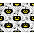 halloween pattern background vector image vector image