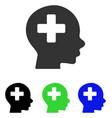 Head medicine flat icon vector image