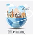 India Landmark Global Travel And Journey vector image vector image