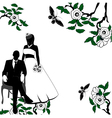 Invitation with Wedding pair vector image vector image