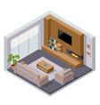 isometric large luxury modern bright interiors vector image