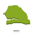 isometric map senegal detailed vector image vector image