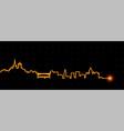 lausanne light streak skyline vector image vector image