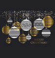 luxury style bauble ornament vector image vector image