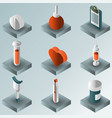 medical color gradient isometric set vector image