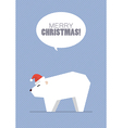 Merry christmas with white bear vector image vector image