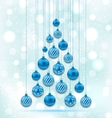 New Year Abstract Tree made in Hanging Balls vector image vector image