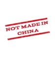Not Made In China Watermark Stamp vector image
