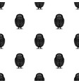owlanimals single icon in black style vector image vector image