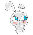 painting a beautiful blue-eyed cute big eared vector image vector image