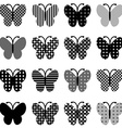 Patterned butterflies set vector image