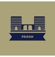 prison building vector image vector image